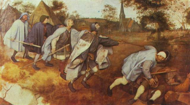 [Bruegel Print, Poster - Parable of the Blind leading the Blind]