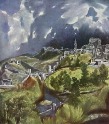 [El Greco Print, Poster - View of Toledo]