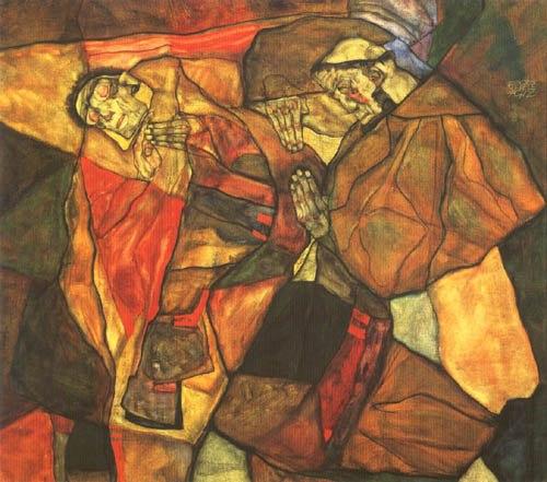 Agony, Egon Schiele, 1912