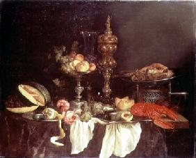Still Life with a Lobster and a Turkey