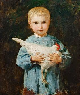 Maurice Anker mit Huhn