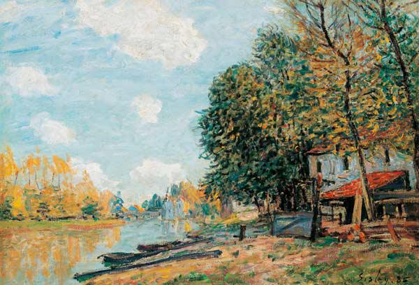 Moret. The Banks of the River Loing