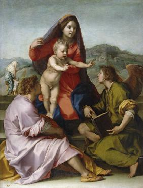 Madonna and Child with Saint Matthew and the Angel