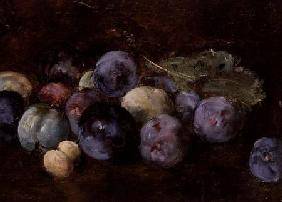 A Still-Life of Plums