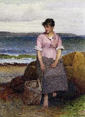 Ein junges Fischermädchen am Meer (A Young Fishergirl by the Sea)