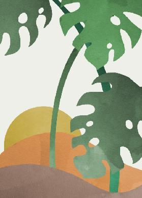 Monstera Cut Out 03