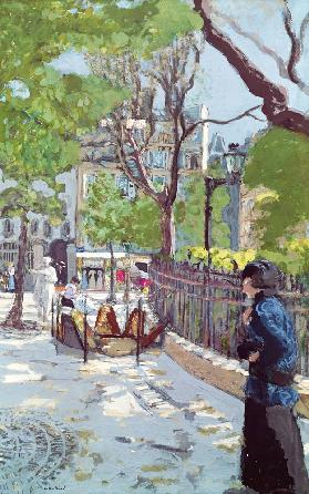 Place Vintimille (oil on canvas)