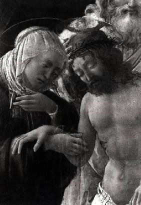 The Entombment, detail of the Virgin and Christ