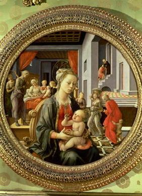 Madonna and Child with Scenes from the Life of the Virgin, 1452 (tempera on panel)