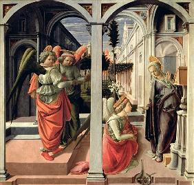 The Annunciation with Three Angels