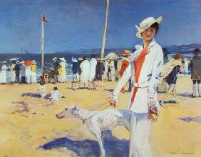 Woman by the Sea (Elegante au bord de la mer)