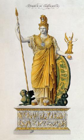 Athena Parthenos, statue from the Parthenon, Athens