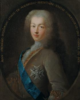 Portrait of Jean Frederic Phelypeaux (1701-81) Count of Maurepas