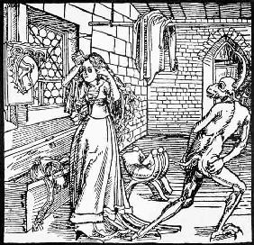 The Devil and the Coquette, copy of an illustration from 'Der Ritter von Turm', Augsburg 1498, used