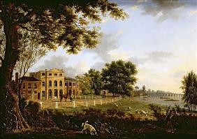 View of Chelsea Farm with the Thames and Battersea Bridge