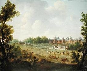 A View of the Royal Palace of Fontainebleau
