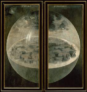 The Creation of the World, closed doors of the triptych 'The Garden of Earthly Delights'