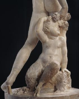 Bacchus, detail of bottom half, sculpture