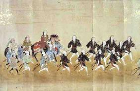Sixth Korean Embassy to Japan at the time of Tokugawa Ietsuna's succession in 1651 possibly by Kano