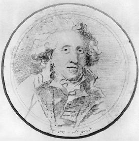 Portrait presumed to be Jean-Honore Fragonard (1732-1806) 1787 (pierre noire on paper)