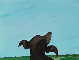 Bronze Profile #2, 1997 (acrylic on canvas)