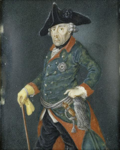 Frederick the Great , Portrait as old man