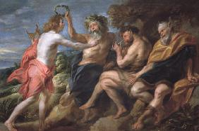 J.Jordaens / Apollo as victor over Pan