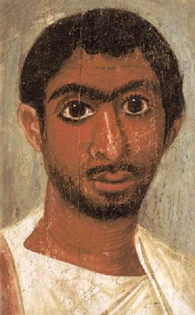 Portrait of a man from the 'Pollius Soter' group said to have been found at Thebes, Severan, Egyptia