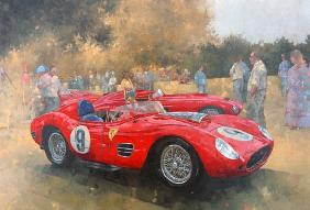 Ferrari, day out at Meadow Brook (oil on canvas)