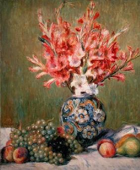 Still life of Fruits and Flowers