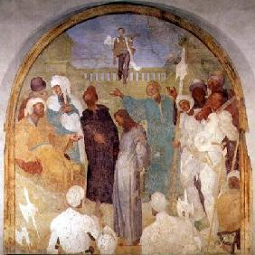 Christ before Pilate, lunette from the fresco cycle of the Passion