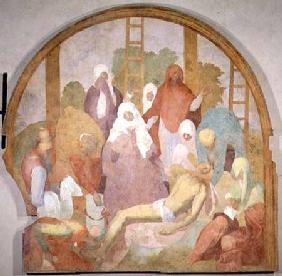 Deposition, lunette from the fresco cycle of the Passion