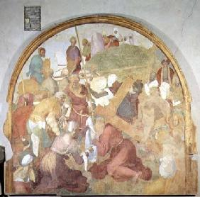 The Road to Calvary, lunette from the fresco cycle of the Passion