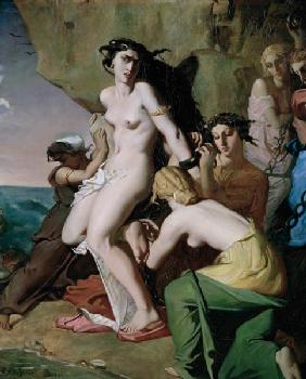 Andromeda Tied to the Rock by the Nereids